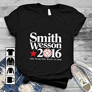 Smith Wesson For President 2016 The Team You Want At 3AM T Shirt Long Sleeve Sweatshirt Hoodie Youth