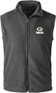 NFL Green Bay Packers Mens Houston Fleece Vest, Grey, X-Large