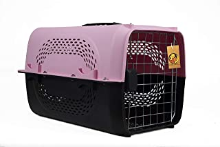 """Foodie Puppies Imported Plastic Portable Pet Travel Carrier Cage & Kennel House for Dogs, Puppies & Small Animals (19"""" X 1..."""