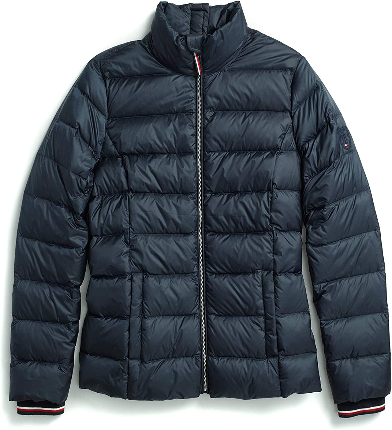 Tommy Hilfiger Women's Adaptive Seated Fit Quilted Jacket with Magnetic Zipper