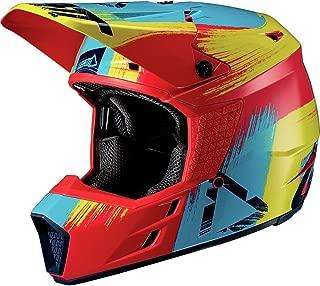 Leatt GPX 3.5 V19.1 Adult Off-Road Motorcycle Helmet - Red/Lime/Medium