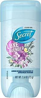 Secret Fresh Clear Gel Antiperspirant Deodorant, Luxe Lavender 2.6 oz (Pack of 2)