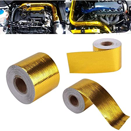 5m x 5cm 16.4ft x 2in Reflective Adhesive Tape for Heat Shield Dedicated to the Exhaust Pipe of the Engine Pipe Silver 5M x 5Cm Aluminum Adhesive Tape