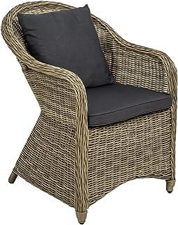 TecTake Aluminio Silla de jardín sillón Sofa de Mimbre
