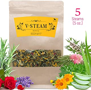 Yoni Steaming Herbs (5 Steams, 5 oz), 8 Types of Organic Herbs -Rosemary, Lavender, Aloe Vera, Calendula and More - Detox, Healing and Stress Relief Steam Herbs