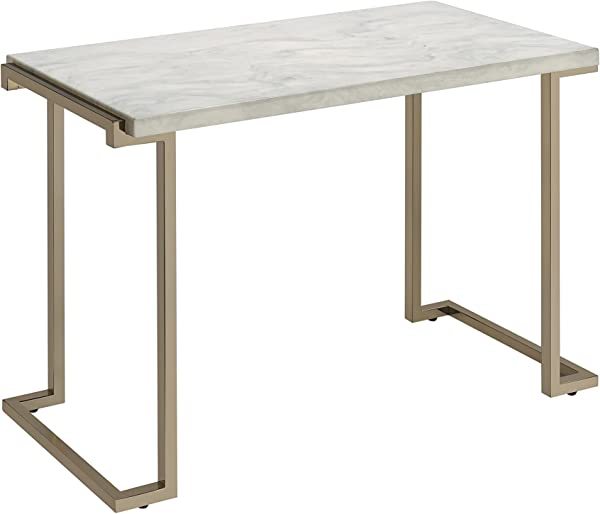 Acme Boice II Sofa Table One Size Faux Marble And Champagne