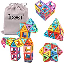 Magnetic Tiles Building Blocks Set Educational Toys for Kids with Storage Bag - 64Pcs