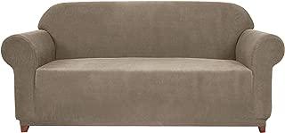 Subrtex 1-Piece Spandex Stretch Slipcover, Sofa, Sand