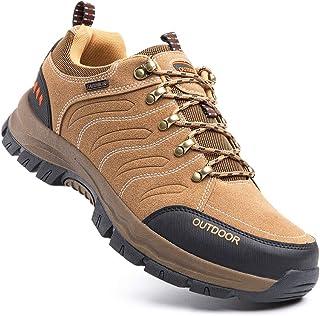 Scarpe Trekking Uomo Traspiranti Scarpe da Escursionismo Basse Leggere Sneakers Lacci All'Aperto Montagna Invernali Nero B...