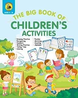 The Big Book of Children's Activities: Drawing Practice, Numbers, Writing Practice, Telling Time, Coloring, Puzzles, Match...
