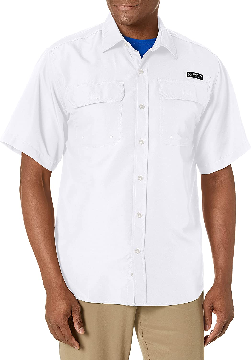 Staghorn Men's Realtree Short Sleeve Button Down Fishing Shirt