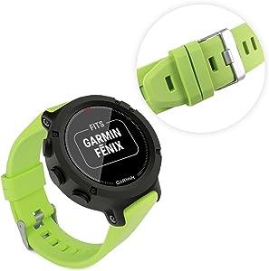 Tuff-Luv Garmin Fenix Forerunner 935 Sapphire Approach S60 Silicone Wrist Watch Strap  amp  Clasp Green