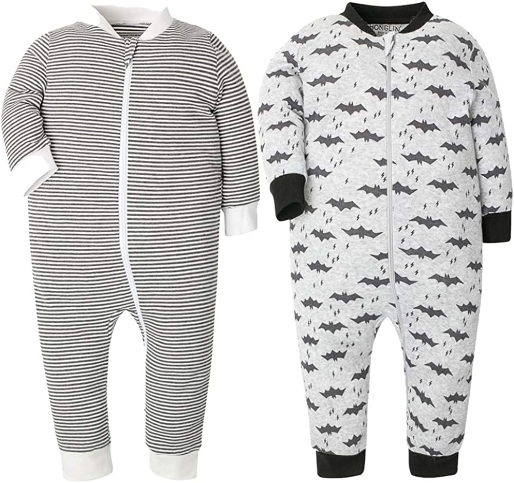 Baby Footed Pajamas Cotton Loose Fit Year-end annual account Onesies Long Toddler Classic Sleeve