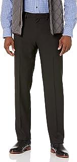 Haggar mens Premium Comfort Straight Fit Flat Front Dress Pant Dress Pants