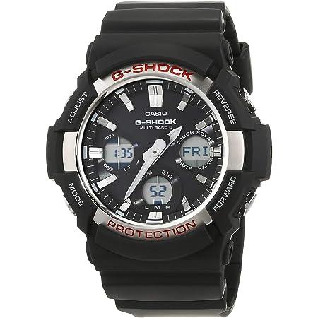 Casio G-SHOCK Reloj Analógico-Digital, Reloj radiocontrolado y solar, 20 BAR, Amarillo/Negro, para Hombre, GAW-100-1AER