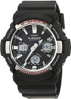 Casio G-SHOCK Orologio 20 BAR, Giallo/Nero, con Ricezione Segnale Radio e Funzione Solare, Analogico - Digitale, Uomo, GAW...