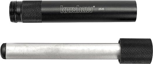 Kershaw Ultra-Tek Blade Sharpener (2535); 4-Inch Sharpening Steel; 600-Grit Diamond-Coated Oval Shaft; Lightweight 6061-T6 Anodized Aluminum Handle; Compact, Portable Design; 2.1 oz.