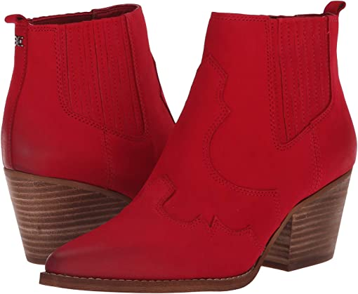 Deep Red Elko Nubuck