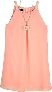 فستان Amy Byer بدون أكمام للفتيات على شكل حرف A مع قلادة