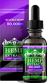 Sponsored Ad - Hemp Oil 80.000 Anxiety Reducer. Pain Relief. Natural Sleep Aid. Weight Management .with Natural Mint Flavo...