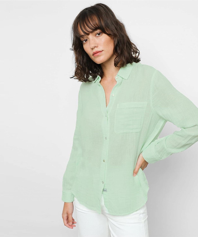 Rails Women's Ellis Lightweight Cotton Shirt Green