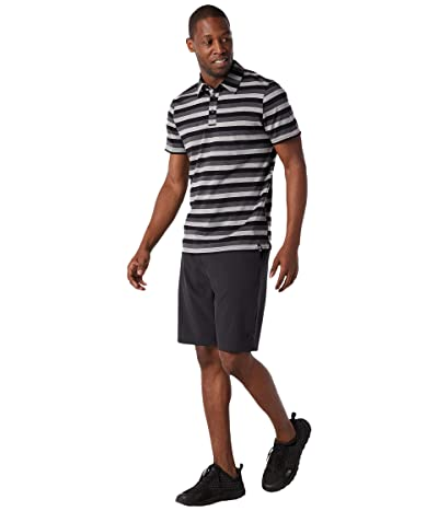 Smartwool Merino 150 Polo (Iron Stripe) Men