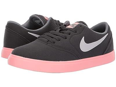 Nike SB Kids Check Canvas (Big Kid) (Anthracite/Vast Grey/Cool Grey) Boys Shoes