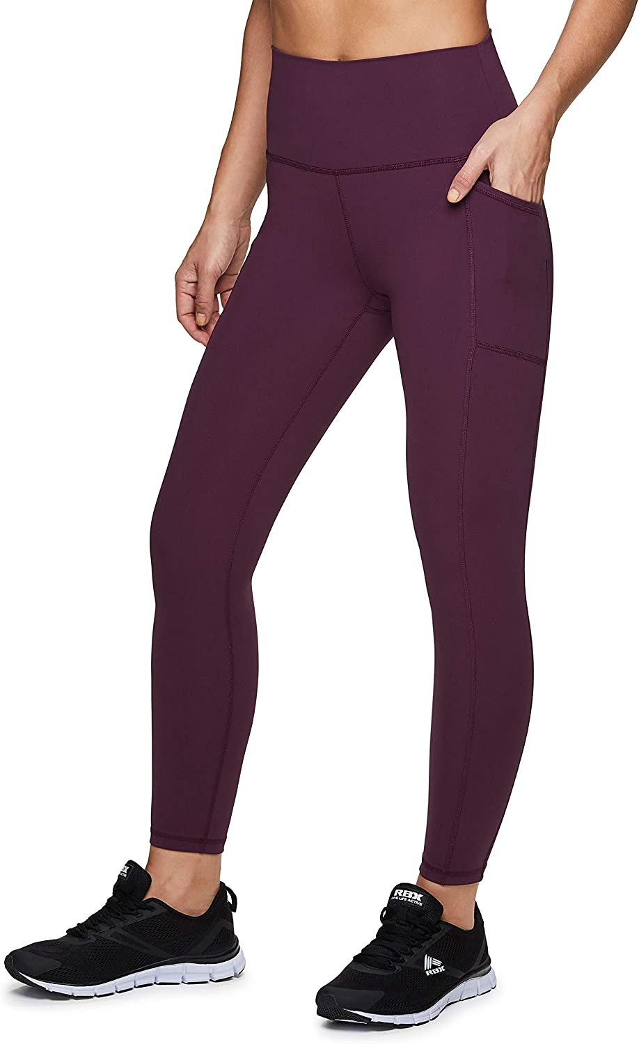 RBX Active High Waisted Squat Proof Workout Yoga Leggings with Pockets for Women : Sports & Outdoors