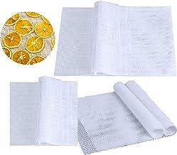 Xumier 15pcs Feuilles Déshydrateur Carrées en Silicone Anti-adhésif Tapis de silicone Flexible Lavable et Réutilisable pou...
