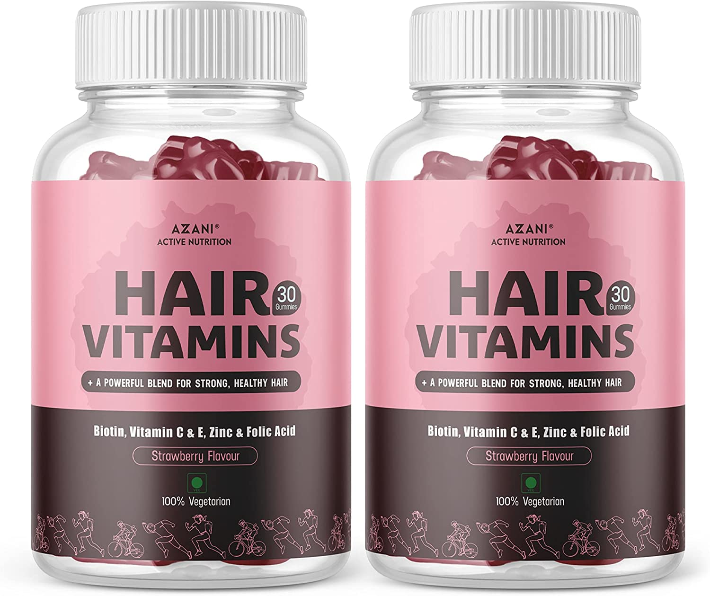Azani Active Max 63% OFF Nutrition Power Vitamin Memphis Mall with Z Gummies Hair Biotin
