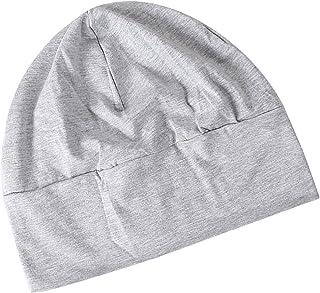 Baosity Unisex Cotton Beanies Sleeping Cap for Hair Loss, Thin Cancer Hat, Chemo Headwear for Summer, Light Gray