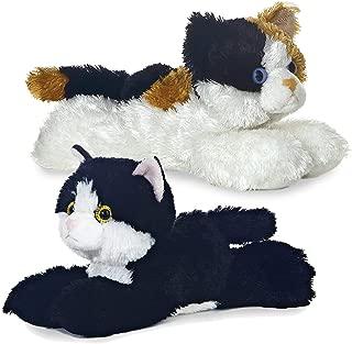 "Aurora 31279, 16625 8"" Domestic Cats - Esmerelda and Maynard Bundle of 2 Plush, Multi-Color"