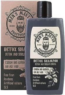 """Shampoo disintossicante""""Carbone attivo e Bardana"""" Cosmetici per uomini, senza parabeni e solfati, 260 ml di Men's Master"""