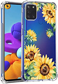 Leychan for Samsung Galaxy A21s case, Slim Flexible TPU for Girls Women Airbag Bumper Shock Absorption Rubber Soft Silicon...