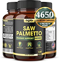 Saw Palmetto Prostate Supplement 4650mg with Ashwagandha, Turmeric, and Other Herbal Ingredients - Natural Booster for Men...
