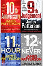 James Patterson Women's Murder Club Collection 4 Books Set, (9th Judgement, 10th Anniversary, 11th Hour and 12th of Never)