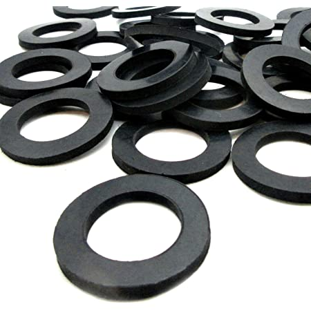 100 Black Rubber Washer Large Rubber Washers 5//8 OD x 1//4 ID x 1//16 Thickness EPDM Rubber Washers Flat Rubber Washers Round Rubber Washers