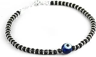 Vasuca 925 Sterling Silver Black Beads Nazariya/Evil Eye Bracelet For Girls & Women in PREMIUM QUALITY - 1Pc