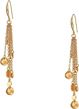Gold Tone Multi Chain Drop Earrings