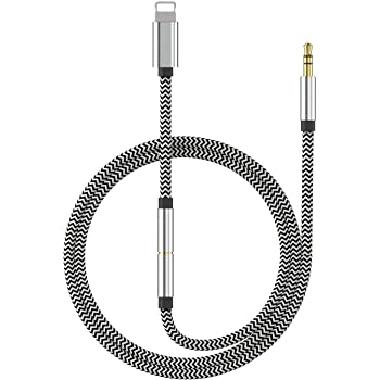 2 in 1 Headphone Adapter for iPhone Ubluker Lighting to 3.5mm Earphone Audio Connector Jack Accessories Compatible with iPhone 11//11pro//8//7//6 Plus//5//X//XS//XSMAX Compatible with All iOS Systems