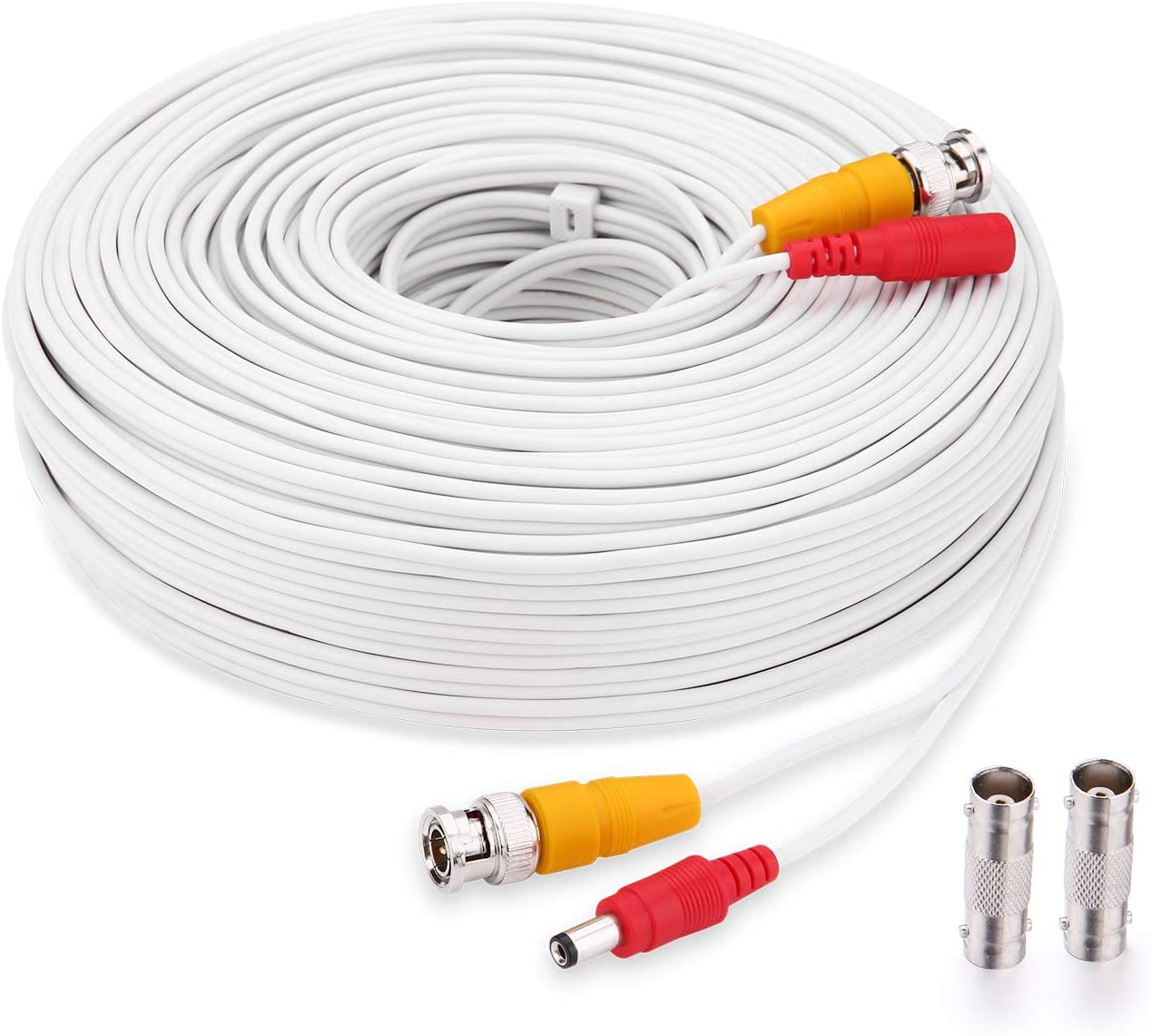 Bnc Cable,150ft CCTV Security Camera CableAll-in-One Siamese Video and Power Security Camera Extension Cord with 2 Female Connectors for All Max 5MP HD CCTV DVR Surveillance System
