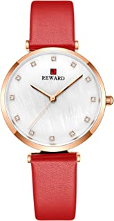 New Women's Watches Ladies Waterproof Watch Soft Leather Strap Analog Quartz Wrist Wacthes for Women Fashion Minimalist Dress Elegant Design -Womens Crystal Gold Watch
