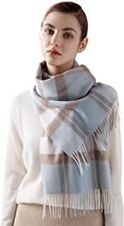 100% Cashmere Plaid Women's Scarf Large Soft Shawls and...