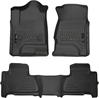 Husky Liners 99201 Black Weatherbeater Front & 2nd Seat Floor Liners Fits Chevrolet Tahoe, 2015-19 GMC Yukon