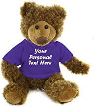 Best Plushtoys Adorable Frankie Bear 12 Inches, Stuffed Animal Personalized Gift - Great Present for Mothers Day Valentine Day Graduation Day Birthday Christmas - Custom Text on Hoodie (Purple)
