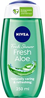 NIVEA Fresh Aloe Shower Gel, Natural Aloe Vera, Fresh Scent, 250ml