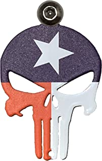 Kustom Cycle Parts Universal Texas Flag Punisher Skull Bell Hanger - Bolt and Ring Included. Fits all Harley Davidson Motorcycles & More! Proudly MADE IN THE USA! (No Bell)