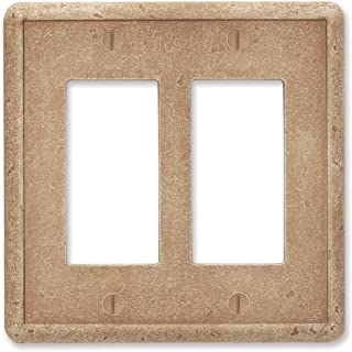 Questech Noche Tumbled Textured Wall Plate Switch Plate Outlet Cover (Double Decorator GFCI)