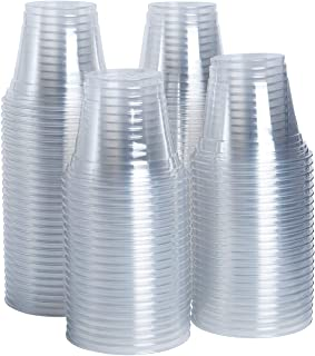 [100 Pack - 9 oz.] Crystal Clear PET Plastic Cups, Party Cups