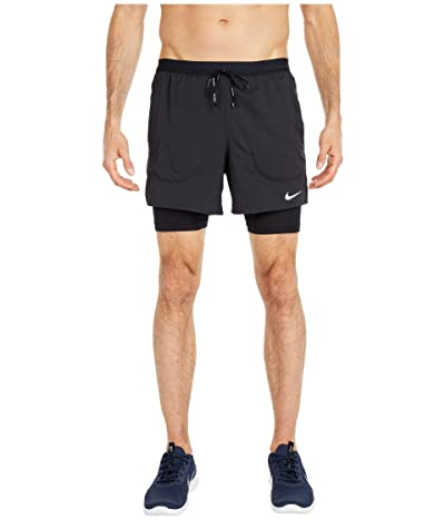 Nike Flex Stride 2-in-1 Shorts 5 (Black/Black/Reflective Silver) Men